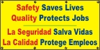 Spanish - Safety Saves Lives Banner