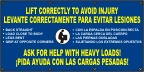 Spanish - Lift Correctly To Avoid Injury Banner