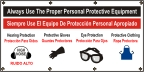 Spanish - Always Use Personal Protective Equipment Banner