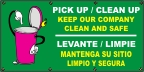 Spanish - Pick Up & Clean Up Banner