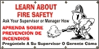 Spanish - Learn About Fire Safety Banner